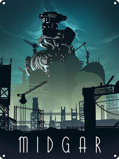 Midgar Tin Sign, Inspired By Final Fantasy VII - Buy ...