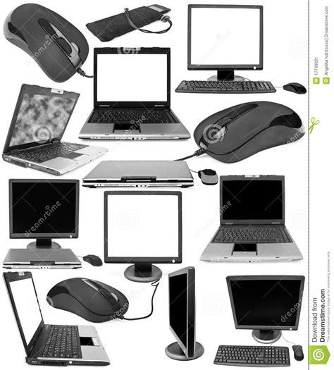 ordinateur de bureau neuf ramassage d 39 objets techniques image stock image 17749021