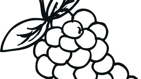 Grapes Coloring Page At Getcolorings.com