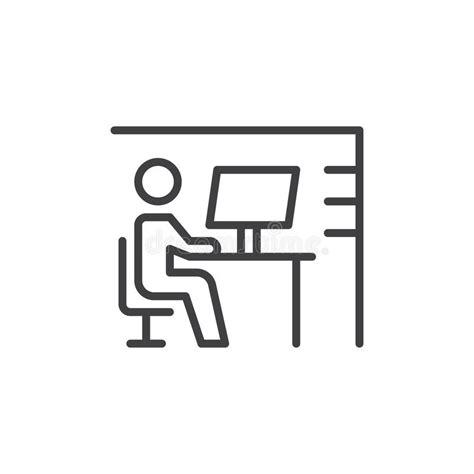 logo le de bureau ligne icône signe de vecteur d 39 ensemble pictogramme