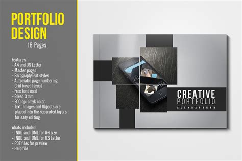 portfolio template pdf portfolio design by top design thehungryjpeg