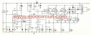 Inverter Circuit  12 Volt To 220 Volt At 500w