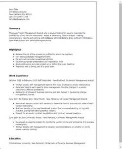management information system resume exles 50 pinned images about vendor contract management tretomo