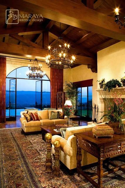 open beam living room rustic living room santa