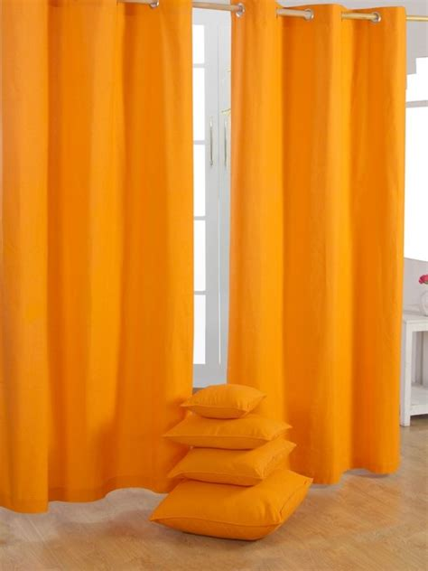 plain orange ready made curtains modern curtains