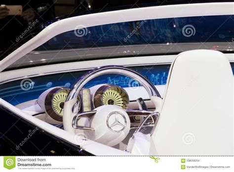 Vision Mercedes Maybach 6 Cabriolet Car Interior Editorial