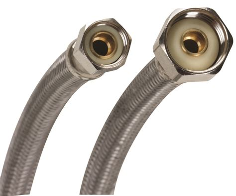 Fluidmaster B6f16 No Burst 16 Inch Stainless Steel Faucet