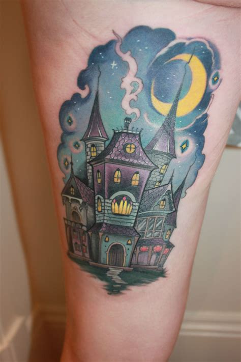 fresh finished haunted house tattoo hd clarence