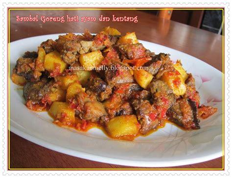 Resep kentang kecap pedas pedasnya gilaaaa dan gampang bangeet. Masakan Melly: Sambel Goreng Hati Ayam dan Kentang