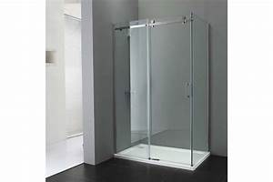 paroi epona avec porte coulissante et paroi fixe With porte de douche coulissante avec lavabo sur pied salle de bain