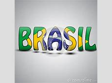 Brazil Letters With Brazilian Flag Football 2014 Stock