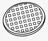 Waffle Coloring Clipart Clipartkey sketch template