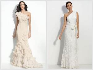 One shoulder wedding gowns for a rustic or country wedding for One shoulder wedding dress