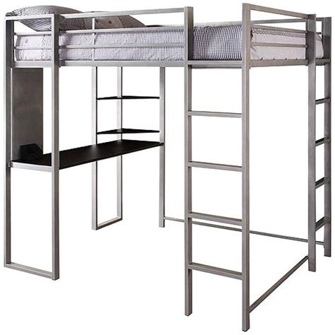 amazon loft bed with desk dhp abode full metal loft bed over workstation desk
