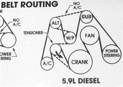 Cummin Belt Diagram by Help Stranded On Highway Dodge Cummins Diesel Forum