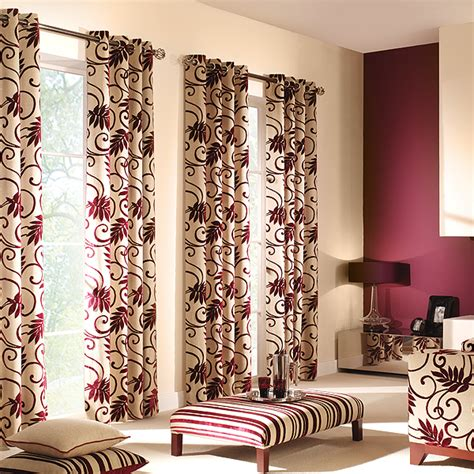 home design living room curtain