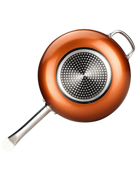 culinary edge  qt copper nonstick wok set reviews cookware sets macys