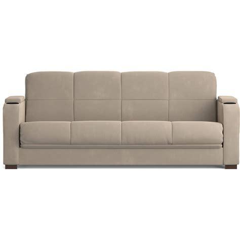 futon sofa with storage mainstays tyler microfiber storage arm futon sofa sleeper