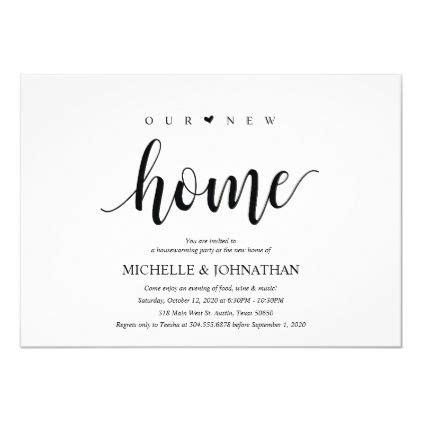 home housewarming party invitation cards zazzle
