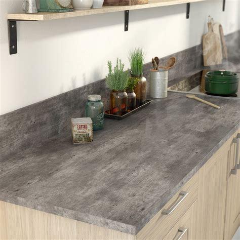 cuisine effet beton davaus plan de travail cuisine marron ikea avec