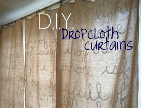 "Brand New ""we"" Diy Dropcloth Curtains  Home Decor"