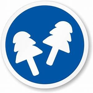 Wear Ear Plugs ISO Mandatory Safety Label, SKU: LB-2961