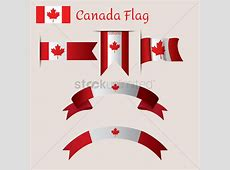 Set of canadian flag ribbons Vector Image 1974975