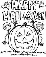 Halloween Coloring Happy Sheets Sheet Downloadable Happyhalloween sketch template