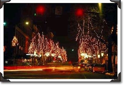 christmas lights bethlehem pennsylvania pa photo