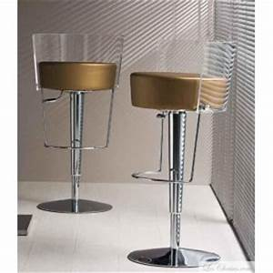 Tabouret reglable design bongo par midj et tabourets bar for Superior photo jardin moderne design 12 tabouret de bar reglable en cuir bongo et tabourets bar