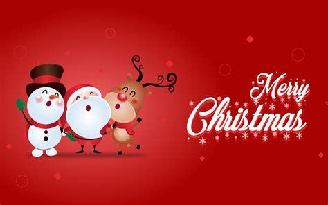 wallpaper merry christmas snowman santa claus