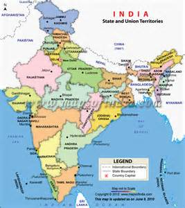 India Map with Cities