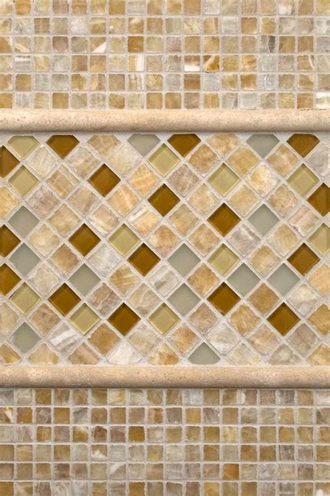 Giallo Crystal Onyx, Ivory Travertine And Honey Onyx