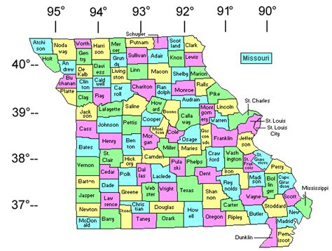 maps missouri county map