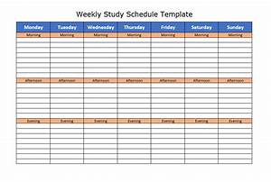 6 Free Study Schedule Templates In Ms Excel And Ms Word Format