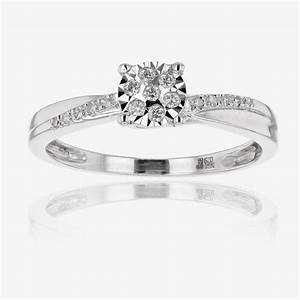 9ct white gold diamond ring for Dimond wedding ring