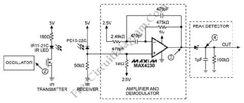 infrared ir proximity distance sensor circuit max