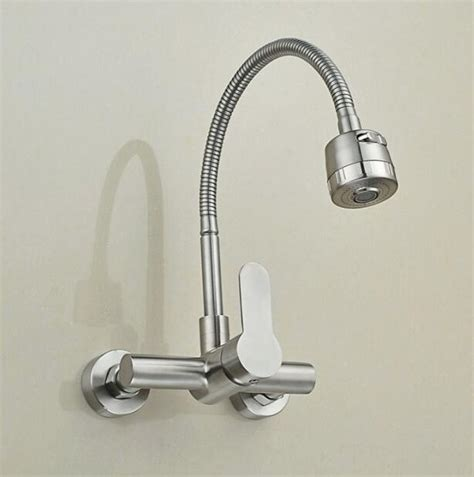 Mounted Kitchen Faucet With Sprayer by Wall Mounted Sprayer Kitchen Faucet Single Handle