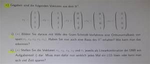Orthonormalbasis Berechnen : vektoren als linearkombination mathelounge ~ Themetempest.com Abrechnung
