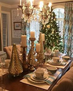791 best images about christmas table decorations on pinterest With christmas dining room table centerpieces