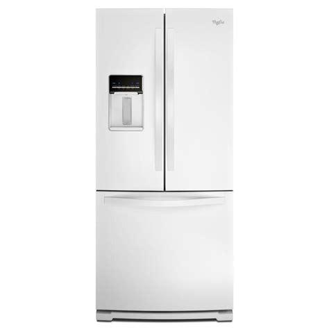 white door refrigerator whirlpool 30 in w 19 7 cu ft door refrigerator