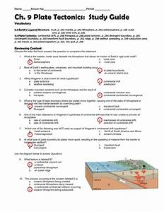 8 Images 9 2 Seafloor Spreading Worksheet Answers And View