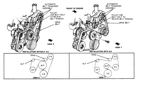 Solved Diagram For Installing Serpetine Belt Ford