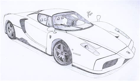 ferrari drawing ferrari enzo drawings