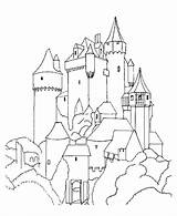 Castle Coloring Castles Pages Medieval Knights Colouring Printable Sheets Drawing Fantasy Adults King Queens Kings Teens Knight Drawings Churches Dragon sketch template