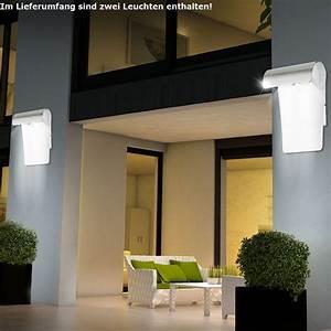 Balkon Wand Verschönern : 2x led au en wand leuchte haus lampe edelstahl balkon beleuchtung ip44 hof licht ebay ~ Indierocktalk.com Haus und Dekorationen