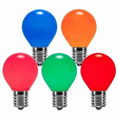 Bulbs E17 C9 Opaque S11 Multicolor Replacement