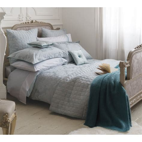 Bedeck Natalia Aqua Vintage Jacquard Floral Bedding Collection