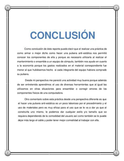 Conclusion Résumé De Texte by Reporte De Pulsera Anti Est 225 Tica