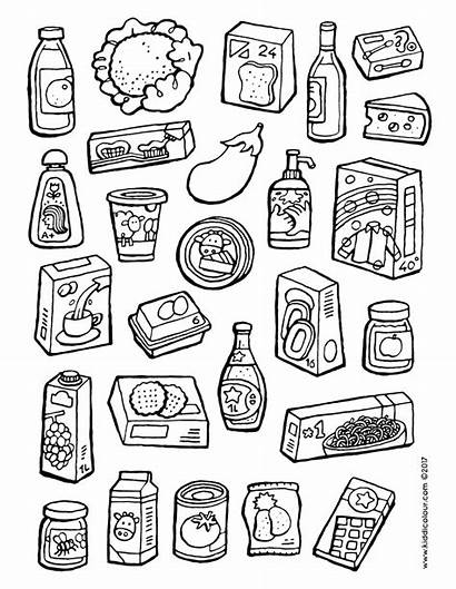 Colouring Pages Supermarket Colour Things Kiddicolour Lots